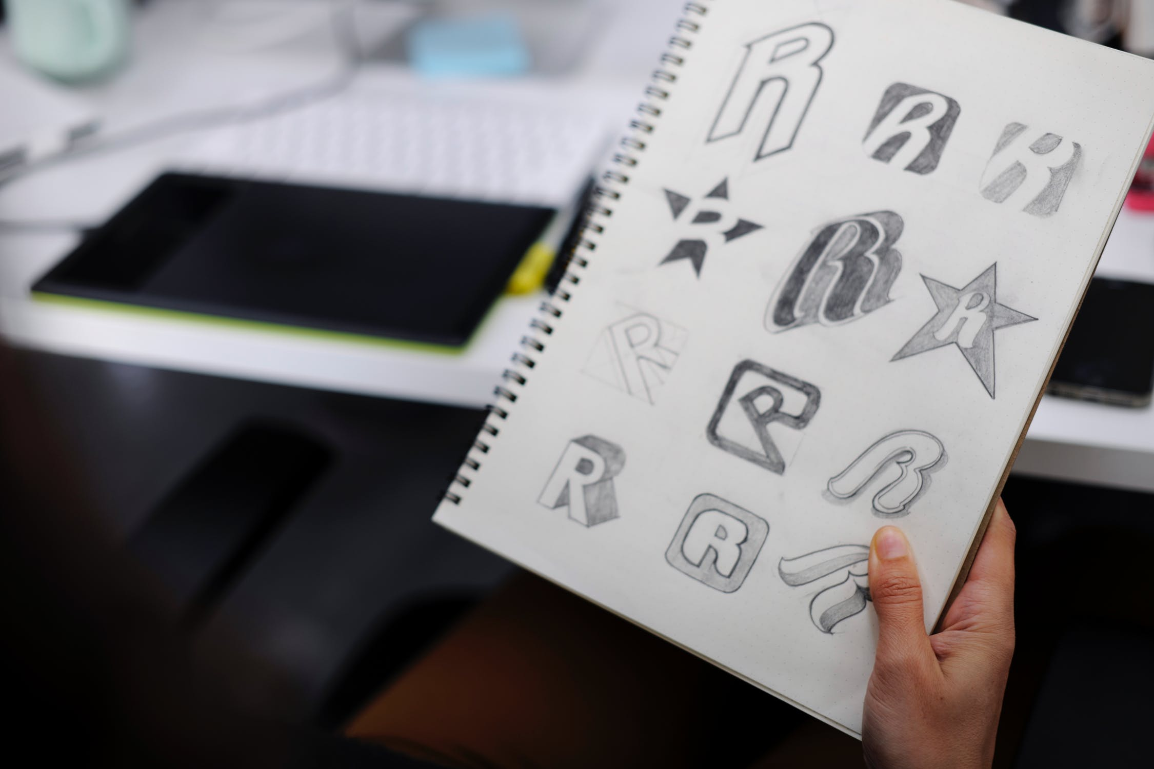 sketches of potential logo